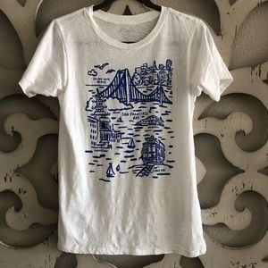 J. Crew White San Francisco T-shirt
